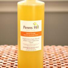 Organic Liquid Castile Olive Oil Soap Spiced Orange Quart
