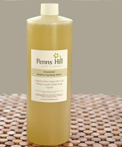 Organic Olive Oil Liquid Soap Unscented Quart
