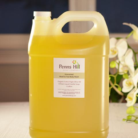 unscented organic castile liquid soap