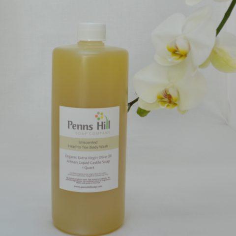 unscented organic liquid olive oil soap