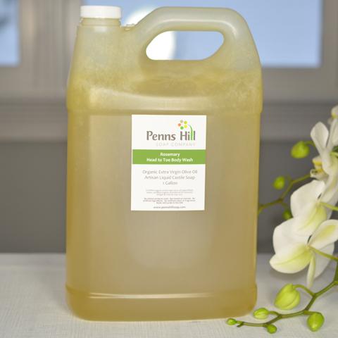 Organic Olive Oil Liquid Soap, Rosemary (Gallon)