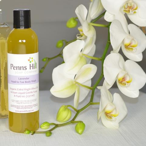 Organic Olive Oil Liquid Soap Lavender 8 Oz