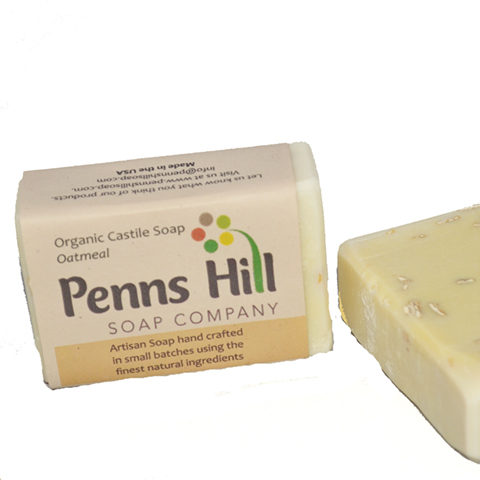 Unscented Organic Castile Bar Soap With Organic Oats